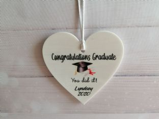 Personalised Graduation Heart Plaque